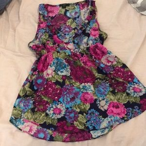 Colorful floral print forever 21 tank